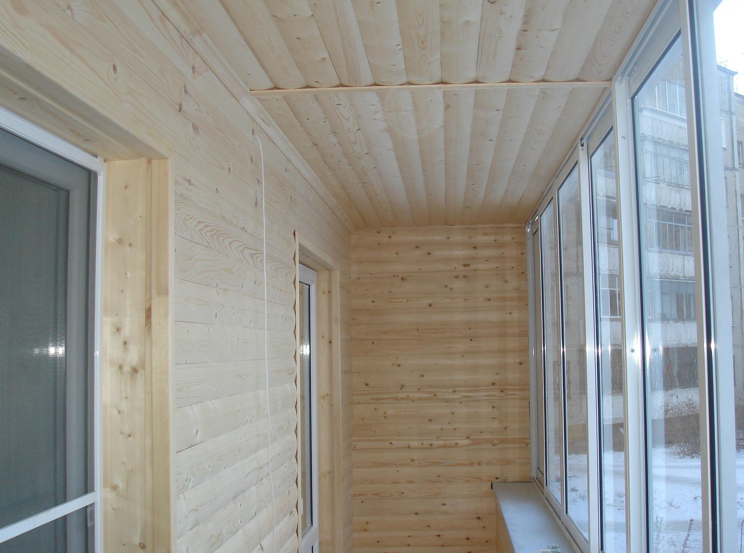 Отделка балконов и лоджий сайдингом внутри..